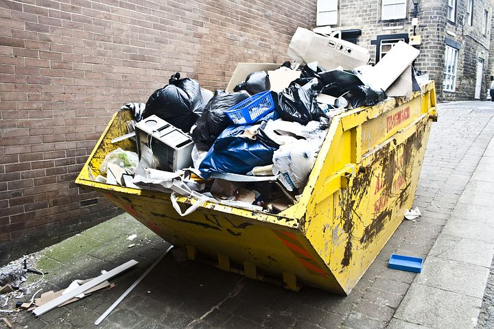 waste bin full of garbage